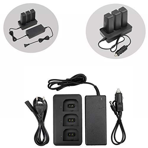 Kismaple anafi caricabatterie 3 in 1 - ricarica 3 batterie, 2 porte usb, una porta del cavo di ricarica per auto per parrot anafi drone accessori