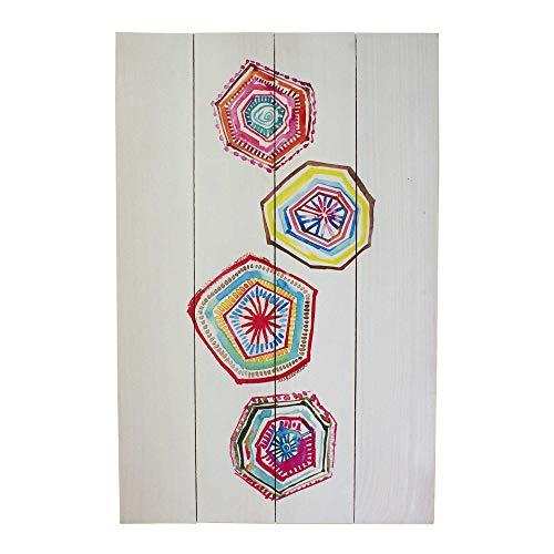 Liza Line Cartel Vintage de Pared Decorativo de Madera, Cuadro Mural Moderno de Decoración para el Hogar, el Salón. Multicolor - Madera de Pino Macizo - 60cm x 40cm (Atrapasueños 2)