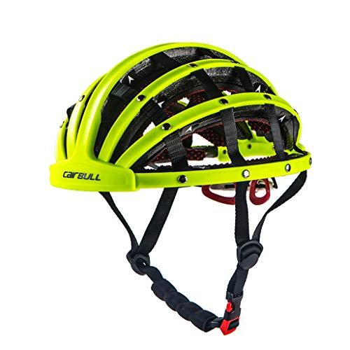 Saingace(TM) Faltbare Fahrradhelm Leicht Neuer bewegliche städtische Freizeit-Straßen-Fahrrad-Reithelm Ultralight Unisex Fahrradhelm für Multi-Sport in Sicherheit Schutz (Grün)