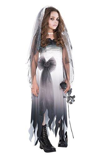 Abendkleid - 'Graveyard Bride' Kostüm - Mädchen im Alter von 12-14 - - Für Halloween-kostüme 12-13