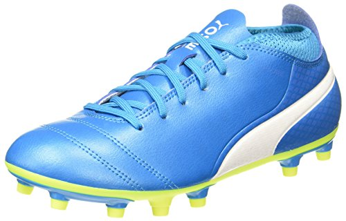 Puma-Mens-One-174-Fg-Atomic-Blue-White-Safety-Yellow-Football-Boots