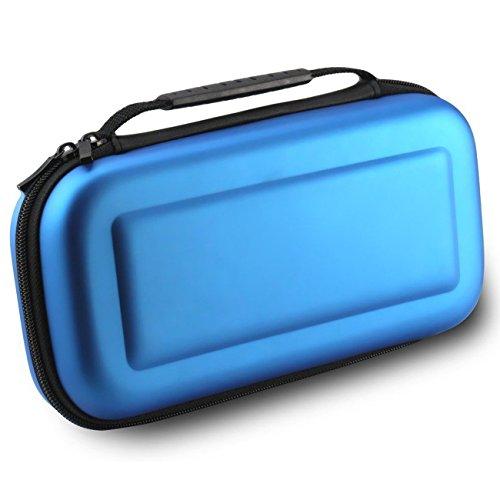 Nintendo Switch Tasche - WindTeco Harte Reise Tragetasche Hülle für Nintendo Switch (Blau) - Lego-kits Armee