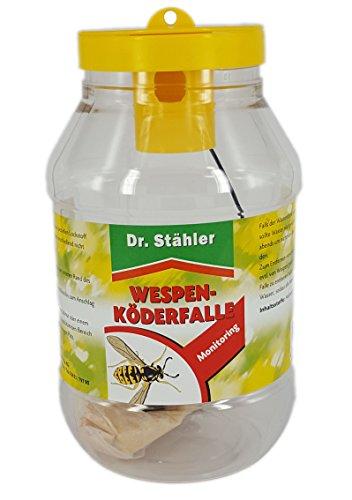 Dr. Stähler 001359 Biologische Wespenfalle für Terrassen, Garten oder Balkon mit Langzeitwirkung