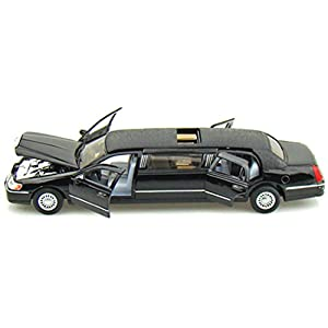 Kumar Toys Kinsmart Die-Cast Metal 1999 Lincoln Town Limousine Car ,Multicolor