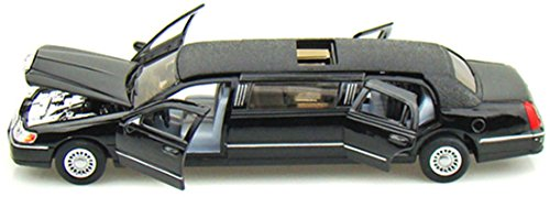 Kumar Toys Kinsmart Die-Cast Metal 1999 Lincoln Town Limousine Car, Multi Color