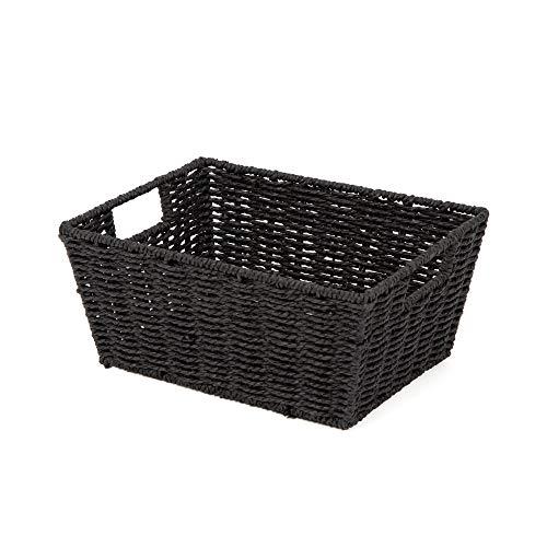 Compactor Noir ETNA-Cajas y cestas de almacenaje (Storage Basket, Negro, Papel, Monótono, Metal), No No applicable