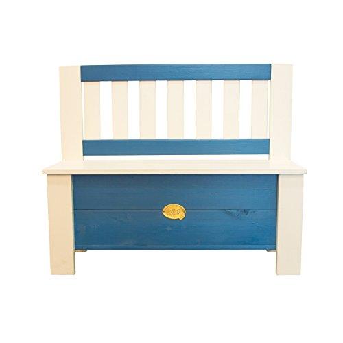 Axi House A031.041.00 Storage Bench Moby, blau, 96 x 37 x 79 cm
