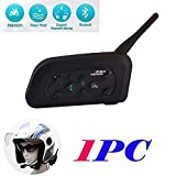 YUZEU 1200m V6 Intercom Moto Bluetooth,Kit Oreillette Bluetooth Casque Moto...