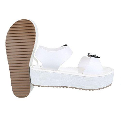 Komfortsandalen Damenschuhe Römersandalen Moderne Schnalle Ital-Design Sandalen / Sandaletten Weiß