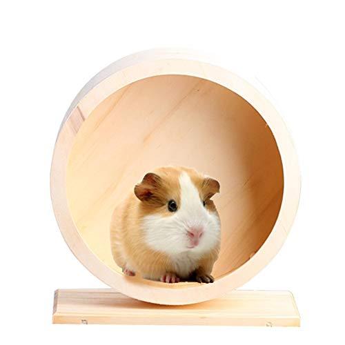 Hölzernes Übungsrad Hamster Laufrad Nicht gleiten Laufende Oberfläche Umweltfreundliches Haustier das Spielzeug-Rad für syrische Hamster-Eichhörnchen-Chinchillas-Mäuse-kleine Tiere rüttelt Ultra leise