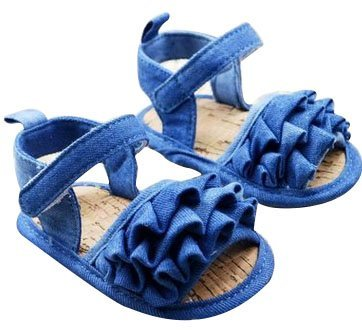 Baby Bucket Pre-Walker Sandal Shoes Light Weight Soft Sole Blue Color Booties Sandal (12-18 Months)  available at amazon for Rs.360