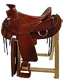Selle western Orlando en cuir de buffle haute qualité neuf de cowboy Selle, 17' (43,18 cm)