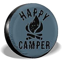 Dem Boswell Happy Camper Reserveradabdeckung Wasserdicht Staubdicht Universal Reserveradabdeckung 16 Zoll