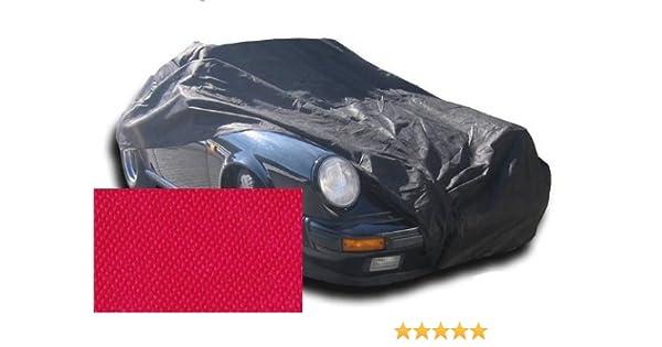 Autoschutzdecke Perfect Stretch Car-e-Cover elegant formanpassend atmungsaktiv f/ür den Innenbereich Farbe Rot