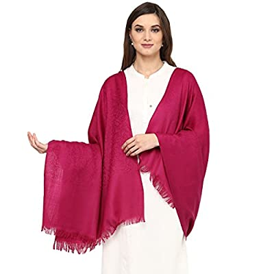 Pashtush Women's Fine Wool Shawl, Paisley Pashmina hand Feel Shawl Design, Jacquard Weave, Merino Wool