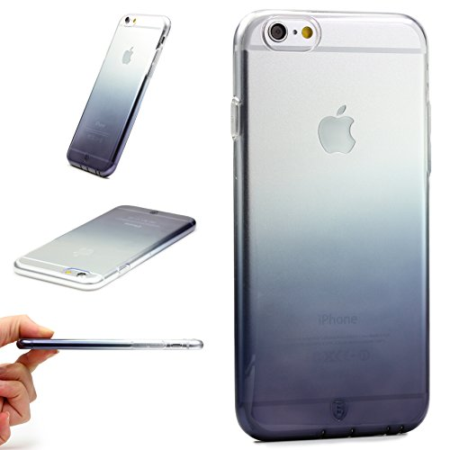 URCOVER® Case Cover Arcobaleno   Custodia Ultrasottile Apple iPhone 6 Plus / 6s Plus   Guscio Flessibile in Silicone TPU in Nero   Trasparente Antigraffio Leggera Lavabile Morbida