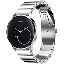 OverDose Edelstahl Armband Smart Uhrenarmband für Withings Activite Steel / Withings Pulse Ox / Withings Activite Pop ( length:173mm ,not include the watch)