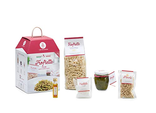 My Cooking Box - La Cena Ligure, 5 Porzioni Trofiette al Pesto - Idea Regalo, Cesto