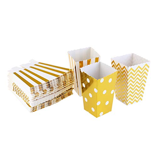 corn Boxen Pappe Party Candy Container,Golden ()