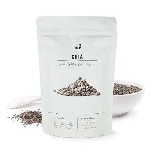 nu3 Chiasamen – Natürliches Protein, wertvolle Omega-3 Fettsäuren und Ballaststoffe