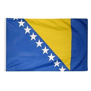 Länder Fahne 90 x 150 cm Abasonic® (Bosnien)