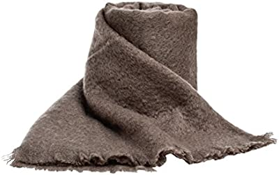 Ania-Manta fibra Mohair, lana, poliamida 180 x 240 cm, color gris