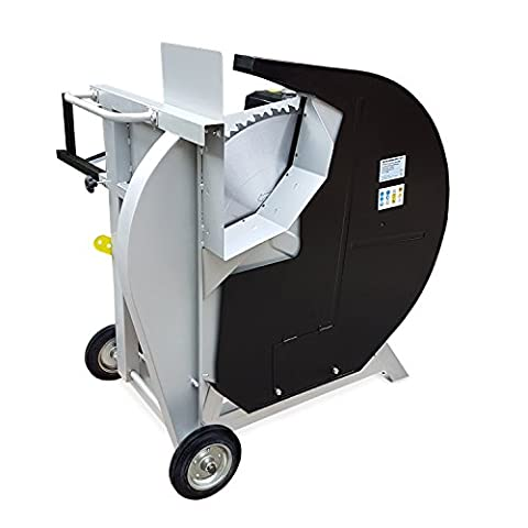 EBERTH 13 PS Benzin Wippsäge (270 mm Holzdurchmesser, Ø 700 mm Hartmetallsägeblatt, luftgekühler 4-Takt Benzinmotor, Bremsschalter, stabiles Untergestell inkl. Fahrgestell)
