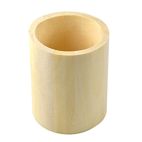 Szaerfa Artisanat en bois Pen Case Brosse Pot Mud Art Toys Crayon Desktop Storage Decor