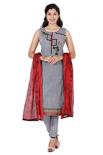 Manmandir Womens Cotton Straight Salwar Kameez Readymade