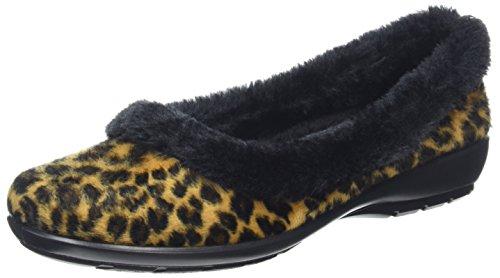 Basses femme Hotter Amelia Leopard Yellow q56CEXvwx