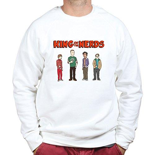 KingofTheNerdsGeekFunnySweatshirtSweaterWHT XL White