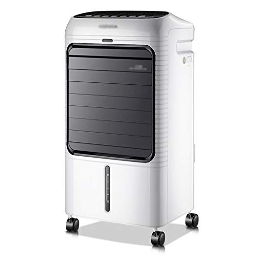 Tragbare Mobile Klimaanlage, 8L-Wassertank Mit 3 Windgeschwindigkeits-Timer Negative Ionenreinigung Befeuchtung Schnelle Kühlung Luft-Luftkühler Für Zuhause Schlafzimmer Wohnzimmer Küche Büro, Weiß