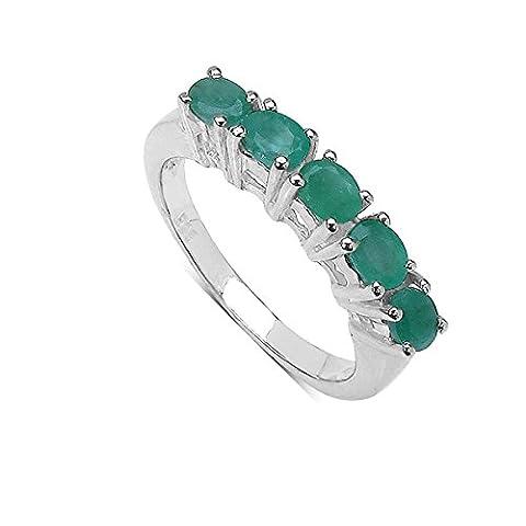 Silvancé - Women's Ring - 925 Sterling Silver - Genuine Emerald - R309E_SSR_17