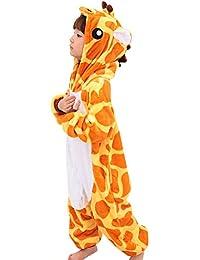 Happy Cherry - Pijamas infantiles Animal Disfraz Pijamas Franela Homewear Sleepsuit Animales Pijamas Cosplay Oneciesies con Capucha Para Halloween Navidad Cosplay Niños 2-10 Años