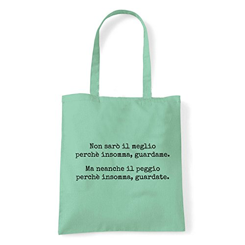 Art T-shirt, Borsa Shoulder Guardate, Shopper, Mare Menta