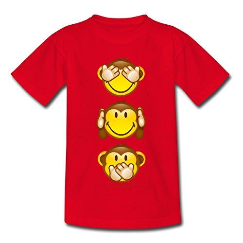 Spreadshirt Smiley World Cool Three Mystic Apes Kids' T-Shirt