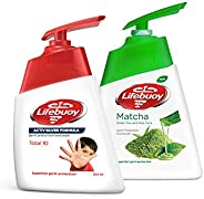 Lifebuoy Anti Bacterial Hand Wash Total 10, 200ml - (Pack of 2)+ Lifebuoy Anti Bacterial Hand Wash, 180ml FREE