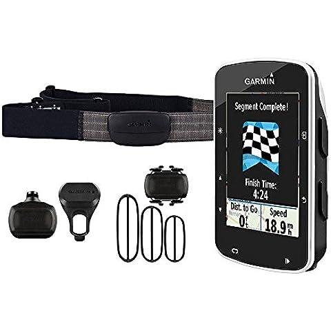 Garmin Edge 520 Pack - Ciclocomputador con GPS, incluye monitor de frecuencia cardiaca, sensores de cadencia y velocidad,