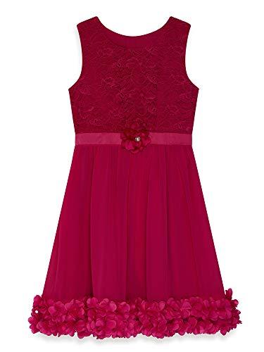 Yumi Girl Fuchsia Flower Corsage Dress (Girls Flower Flower)