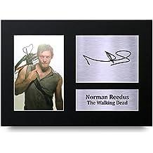 Norman Reedus Cadeaux A4 Autographe Imprimé The Walking Dead Daryl Affichage d'image de Photo D'Empreinte