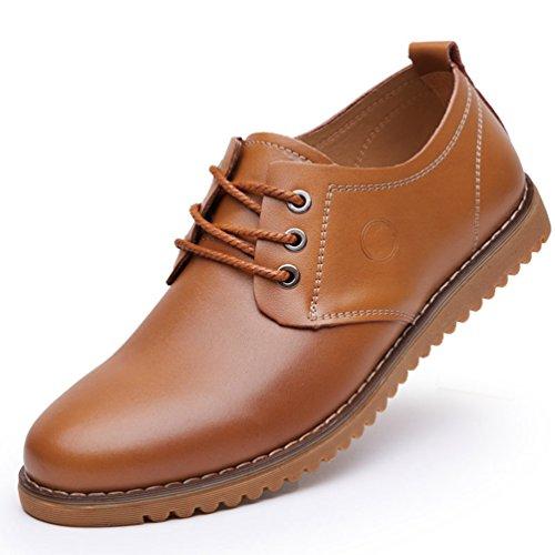 Homme Chaussure au Loisir Simple Printemps-Été Chaussure en Cuir Absorption des Chocs