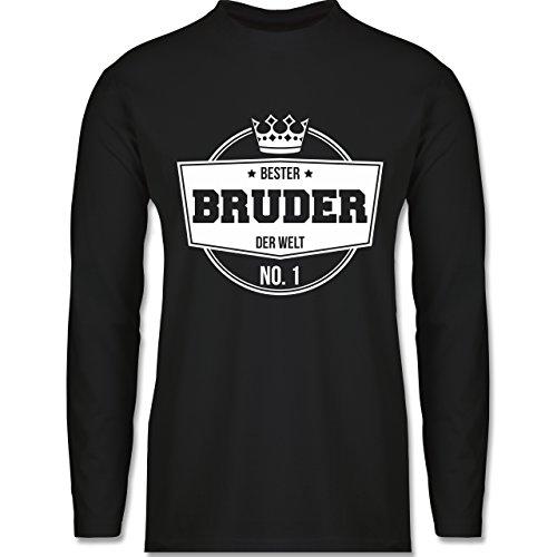 Shirtracer Bruder & Onkel - Bester Bruder der Welt - Herren Langarmshirt Schwarz