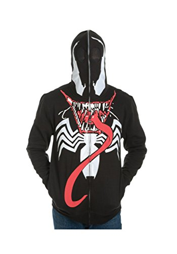 Marvel Venom Suit Up Costume da uomo Full Zip con cappuccio Black X-Large
