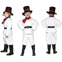 Fancy Dress World 30056 - Disfraz de muñeco de Nieve para niños y niñas, diseño