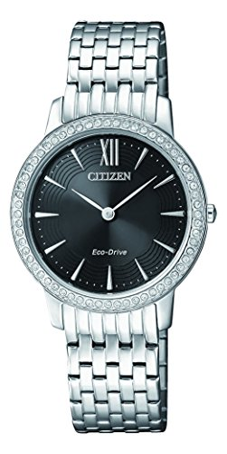 Citizen Damen Analog Quarz Uhr mit Edelstahl Armband EX1480-82E