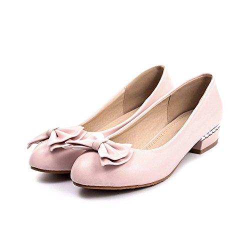 BalaMasa da donna, tacco basso, in pelle, per scarpe pompe superiore Pink