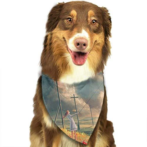 Bandanas Schal Mädchen Rosen Classic Pet Bandana Pet Halsbänder für Hund Katze eine Größe ()