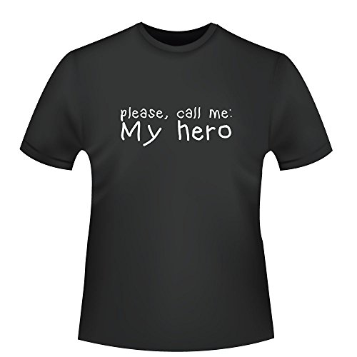 please, call me my hero, Herren T-Shirt - Fairtrade - ID103907 Schwarz