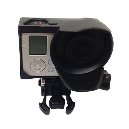 ledmomo Fall-Schutz der Kamera Deckel-Rahmen Vliesborte Standard mit Sonnenblende für GoPro 3Gopro 3+ Action Camera Zubehör