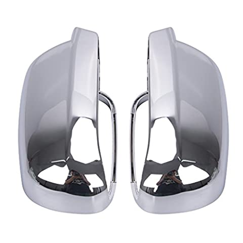 WANOOS Chrome Side Wing Mirror Cover Case Housing